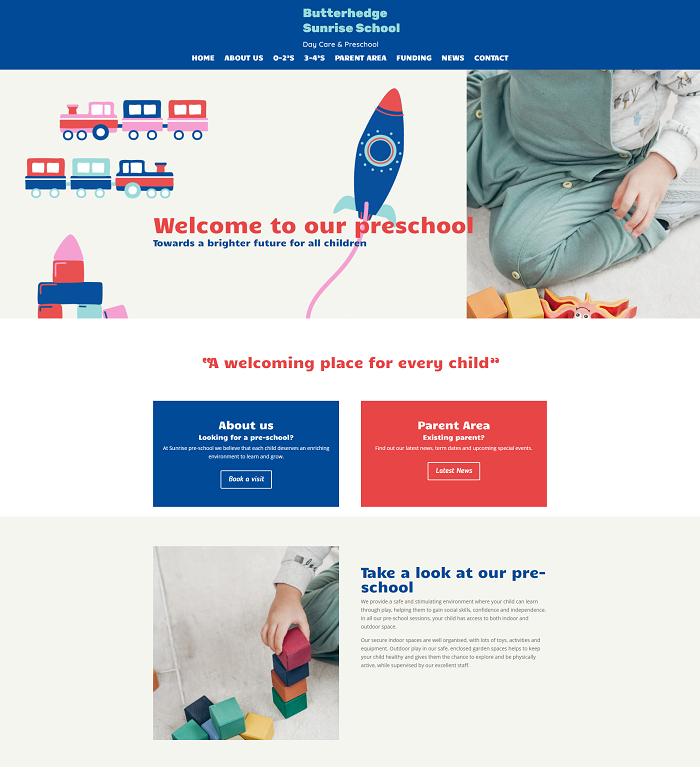 Butterhedge screen shot of website